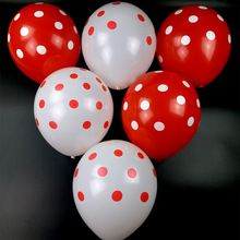 50pc 12 inch Latex Polka Dots Balloons Wedding Birthday Balloons Decoration combination of red blue rose and white Kid Toys //Price: $US $5.99 & FREE Shipping //     #festive #party #birthdayparty #christmas #wedding decoration #event