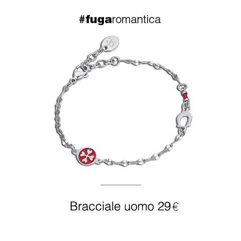 Bracciale in acciaio con ferro di cavallo e smalto rosso Luca Barra Gioielli! #bracciale #uomo #trend #style #lucabarragioielli #tendenzemodauomo #pe2016