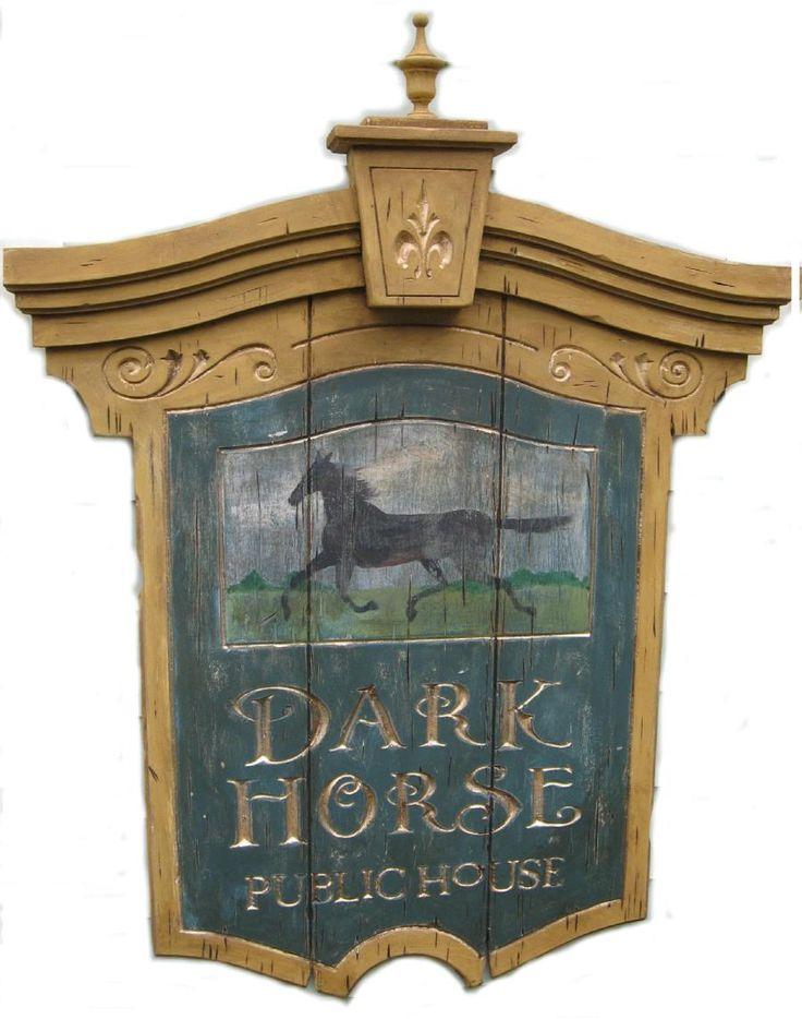 Dark Horse Tavern Vintage tavern sign