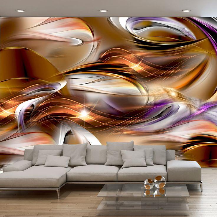 """Fotomural """"Mar del ámbar"""", decora las paredes con motivos abstractos de colores vivos que no dejan de intrigar. Descubre vasta oferta de los fotomurales y papeles pintados de la galería bimago"""