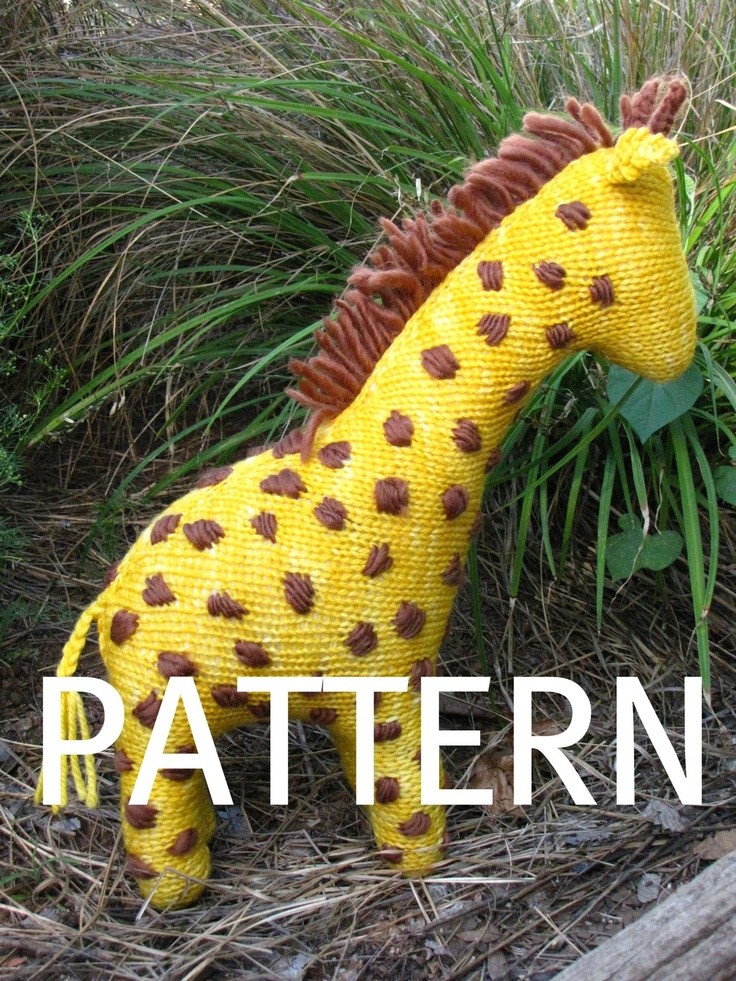 Giraffe Toy Knitting Pattern Pdf Toys Knitting