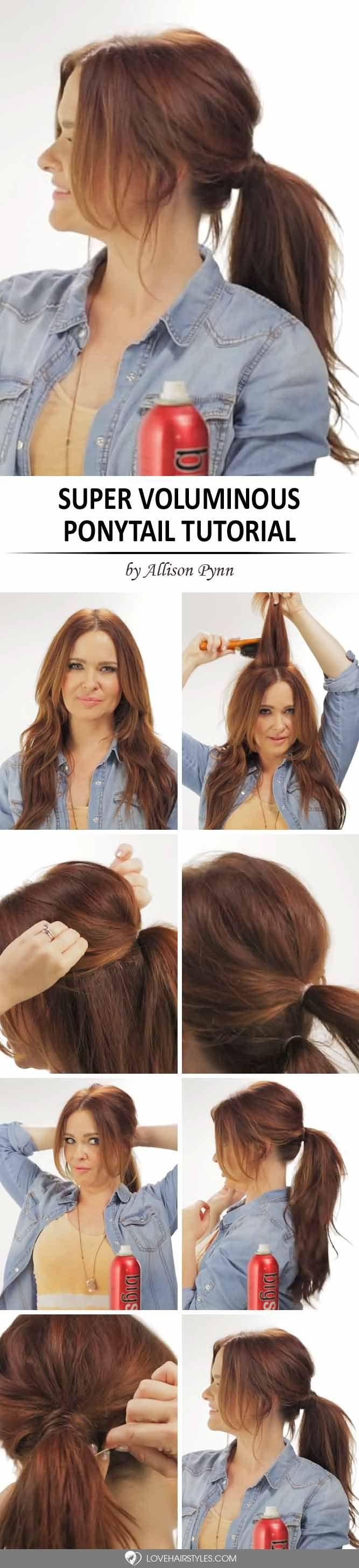 Pleasant 1000 Ideas About Easy Ponytail Hairstyles On Pinterest Ponytail Short Hairstyles Gunalazisus