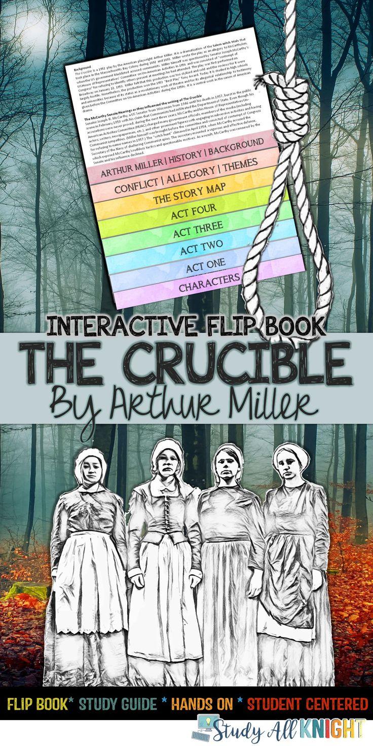 The Crucible Reading Literature Guide Flip Book Reading Literature Collaborative Classroom Teaching American Literature