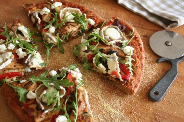 whole wheat pizza crust!! I have been on a quest for this crust ...