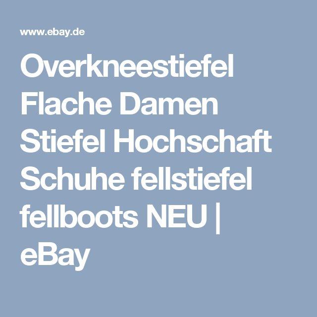 Overkneestiefel Flache Damen Stiefel Hochschaft Schuhe fellstiefel fellboots NEU | eBay