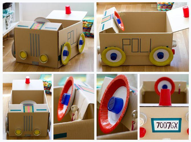 Tutoriales de juguetes de carton diy originales para dejar - Manualidades pequeocio ...