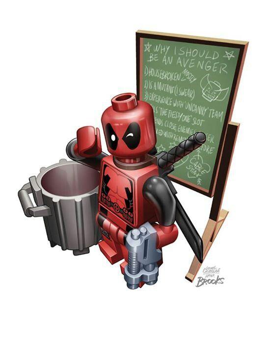 lego deadpool draw