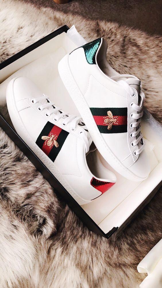 2019 Gucci Fashion Show | Shoes | Gucci ace sneakers, Gucci ...