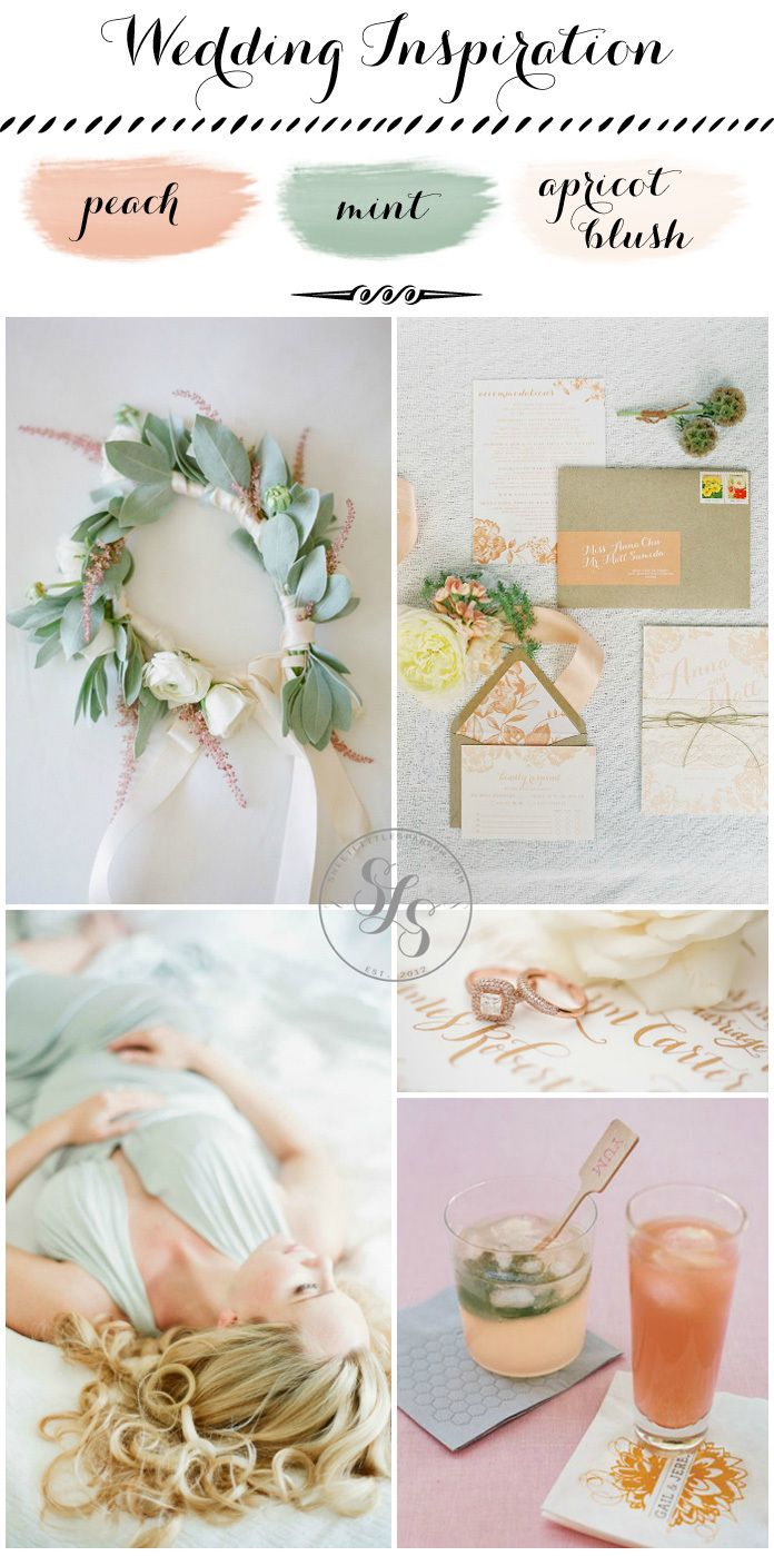 84 best color story peach mint apricot blush images for Tidy buy wedding dresses