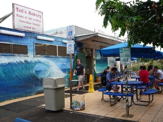 A MUST....Ted's Bakery, Sunset Beach, North Shore, Oahu. Stop here for breakfast, lunch or dinner! ! ! ! Work it off at the beach!!!