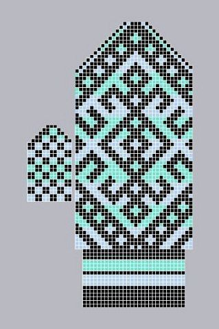 "Вязание. Жаккард - ""Зимняя радуга""   VK"
