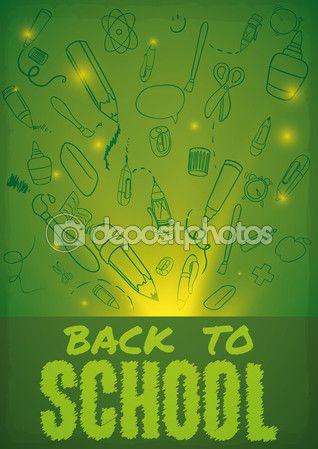 School Elements in Doodle Style for Back to School Season