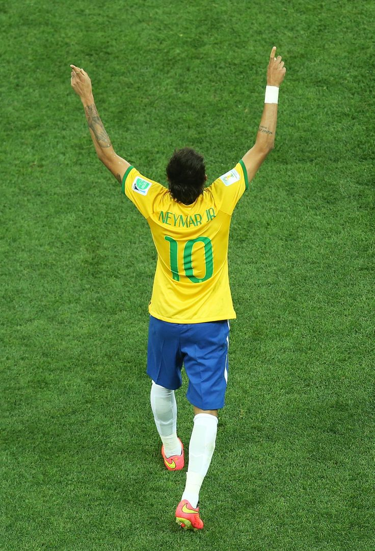 Neymar of Brazil NT Celebrating The Goal