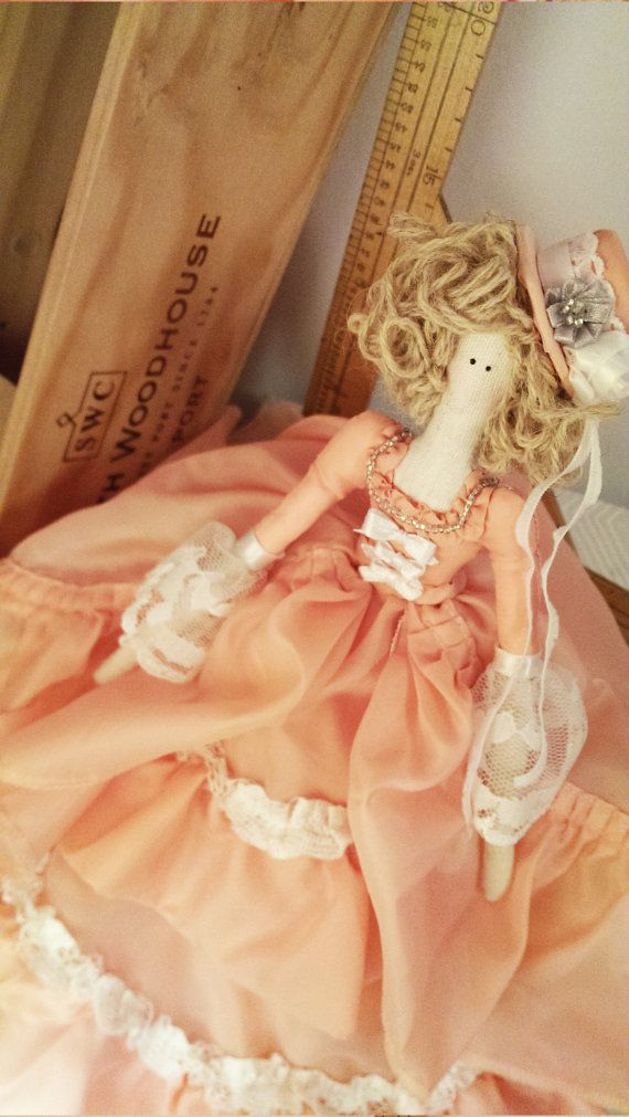 Tilda Doll - Apricot layered dress with ruffles