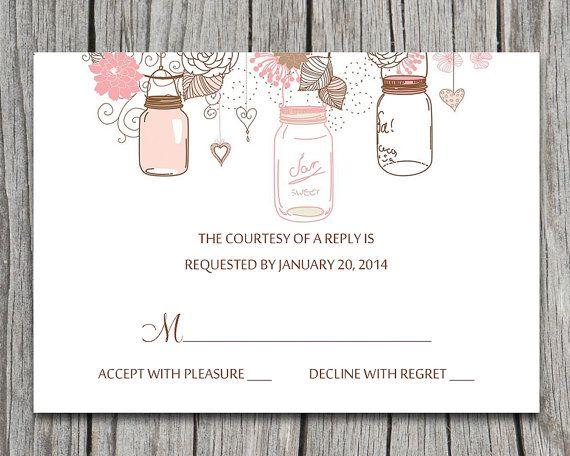 75 best Spring Wedding images on Pinterest Floral invitation - free rsvp card template
