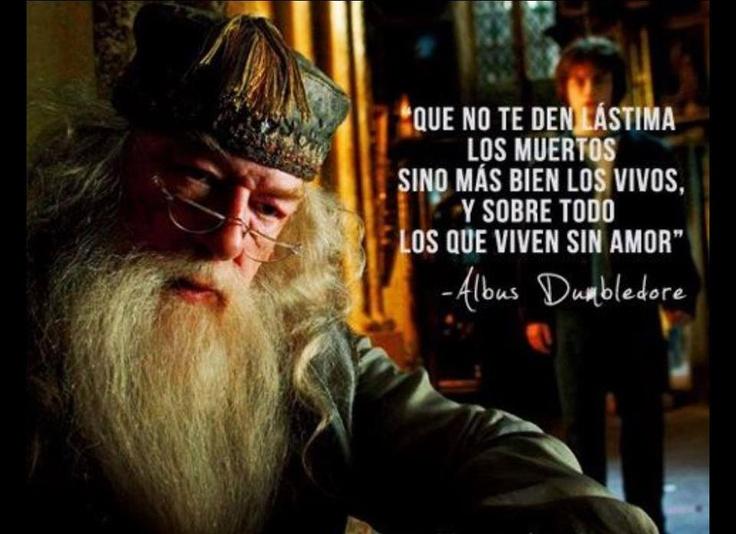 """""""Que no te den lástima los muertos sino más bien los vivos, y sobre todo los que viven sin amor"""" #AlbusDubledore #Citas #Frases #Candidman"""