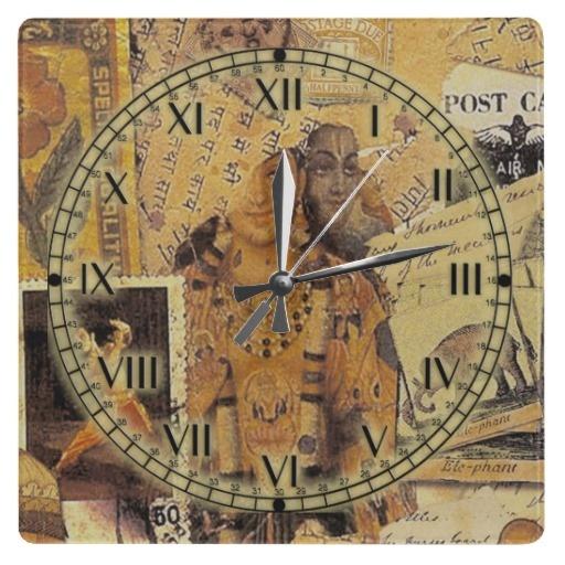 #Indian Glories #Square Wall #Clocks