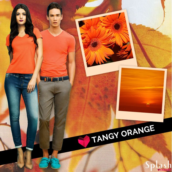 Tangy orange! Splash the Basic shades from a Splash store near you!  #Splash #Fashion #Basics #Casuals #SpringSummer #SplashIndia