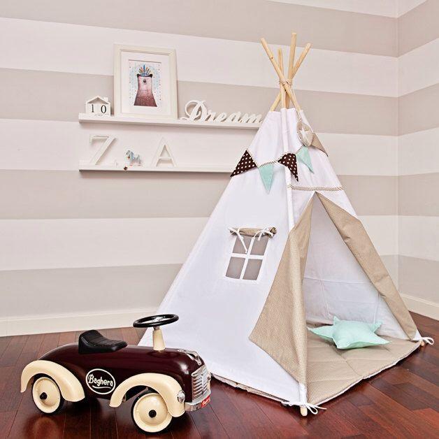 Teepee bambini giocano tenda Tipi - scandinavo bianco di FUNwithMUM su Etsy https://www.etsy.com/it/listing/249177729/teepee-bambini-giocano-tenda-tipi
