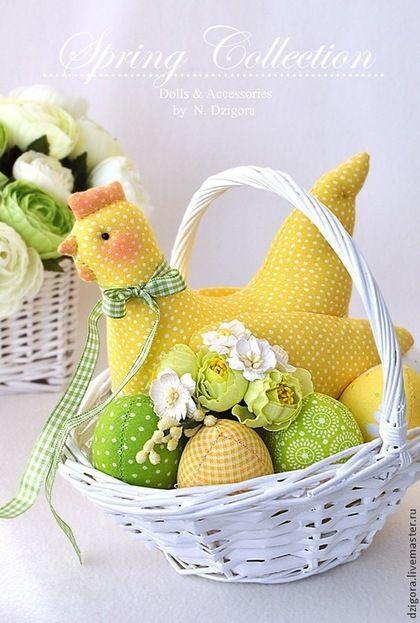 Купить Солнечная Ряба. Пасхальная композиция - желтый, пасхальный декор, Пасха, пасхальный сувенир