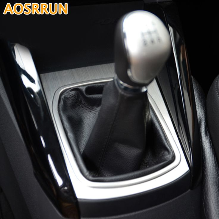 Stainless steel Car Manual gear Cover Car-styling For Ford Ecosport 2013 2014 2015 2016 Car accessories #Affiliate