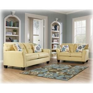 2 Piece Kylee Goldenrod Living Room Set Nebraska Furniture Mart Sunroom Furniture Decorate