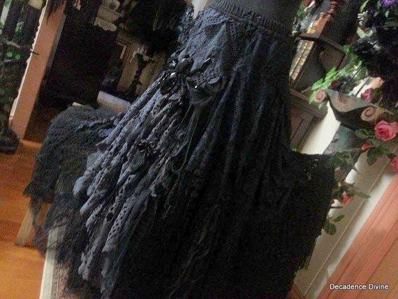 Victoriaanse Boheemse rok echte Vintage & antieke textiel