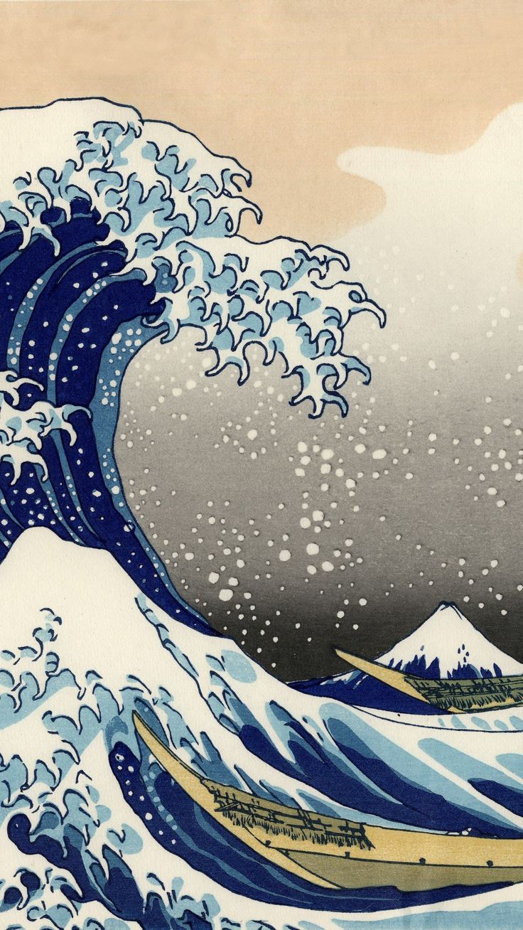 Artistic The Great Wave off Kanagawa Wave Japanese,