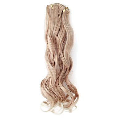 High Quality Synthetic 55cm Clip-In Wavy Hair Extension 6 Colors to Choose – USD $ 19.99