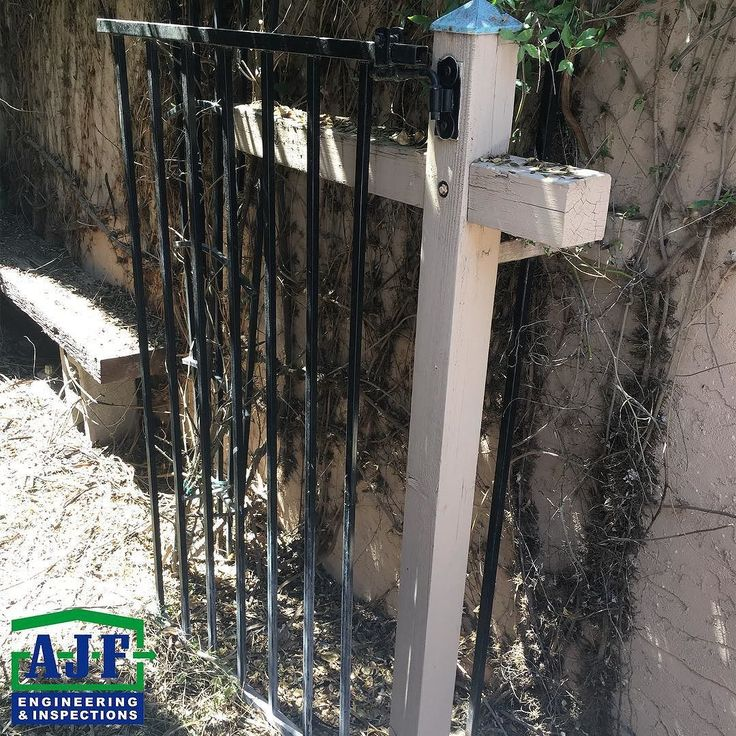 Very creative DIY: An old realtor sign transformed into a gate! #WeveSeenItAll #YourInspectionConnection