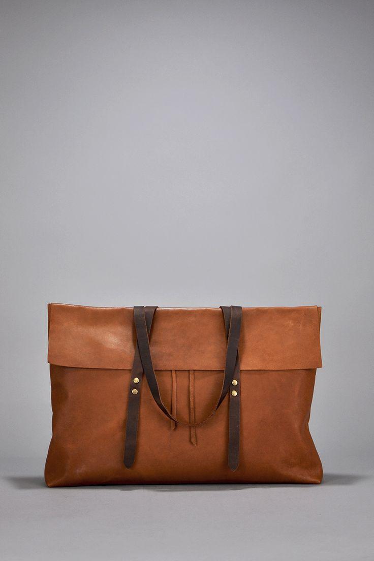Leather tote, quite unique