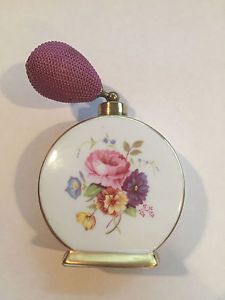 Vintage Royal Bavaria Germany Porcelain Perfume Bottle with Atomizer Bulb in Antiques, Decorative Arts, Glass, Perfume Bottles | eBay