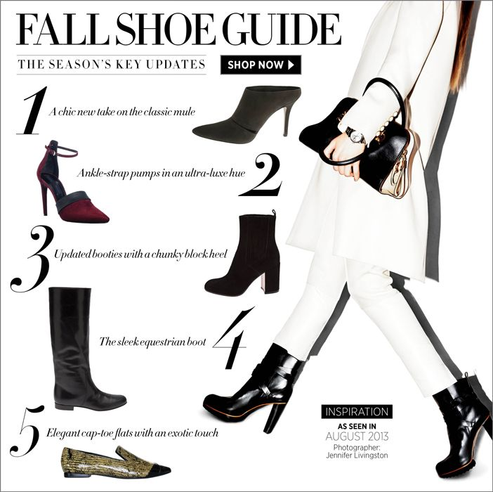 Fall Shoe Guide: Shop the season's must-have styles at #ShopBAZAAR