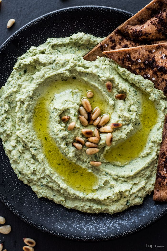 Super Green Goddess Hummus - Ultra healthy, super delicious, and so easy to make!