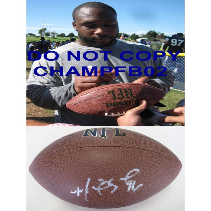 Marcus Spears, Baltimore Ravens, Dallas Cowboys, Lsu, Tigers, Signed, Autographed, NFL Football, a COA with the Proof Photo of Marcus Signing Will Be Included