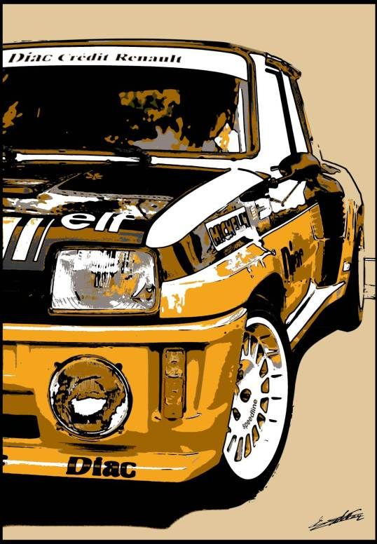 Tableau R5 GT Turbo voiture francaise Renault