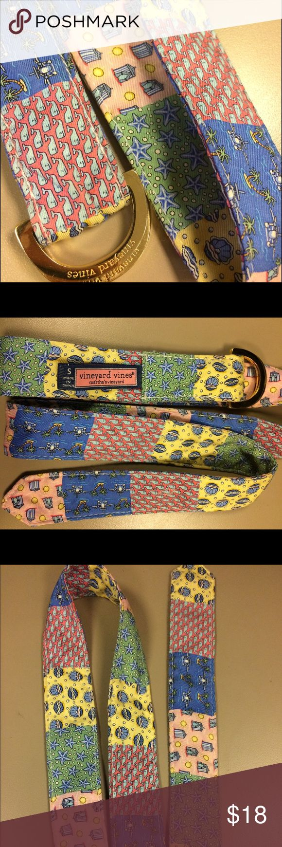 Vineyard Vines Preppy Patchwork Belt w Gold Ring Vineyard Vines Preppy Patchwork Belt w Gold Ring. Women's Size Small. Super cute! Great condition. Vineyard Vines Accessories Belts
