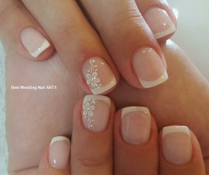 35 Simple Ideas For Wedding Nails Design 2 French Manicure Short