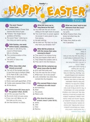 It's just a picture of Magic Easter Trivia Questions and Answers Printable