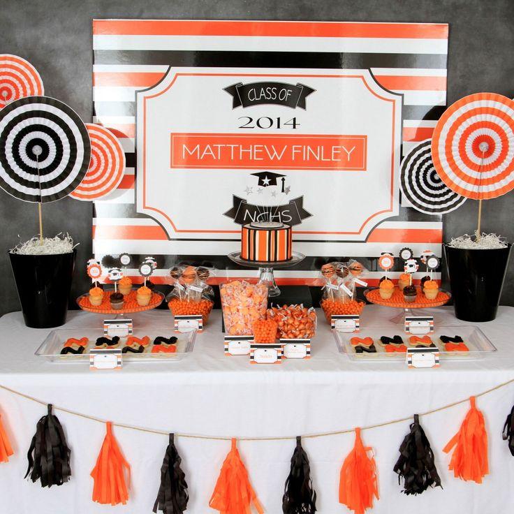 Graduation Party 2014, orange and black