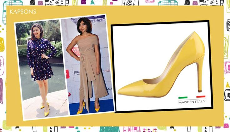 Why should celebs have all the fun? Travel in celebrity favorite yellow pumps, shop for them here- bit.ly/29cTbI9 #SayaniGupta #MadeInItalia #PrachiDesai #Kapsons