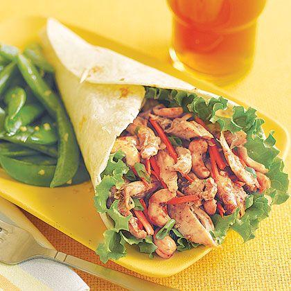 Quick And Easy Hoisin Chicken Wraps Recipe