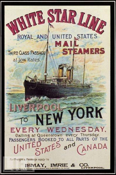 Vintage White Star Line Travel Poster - 1900