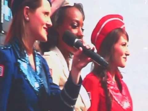 Coca-Cola 600 NASCAR Charlotte - God Bless America - USO Singers May 28,...