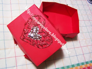 """Tutorial ♥ Box """"Love"""" Origami. Simple box, with lid decorated to create, to make it precious and special."""