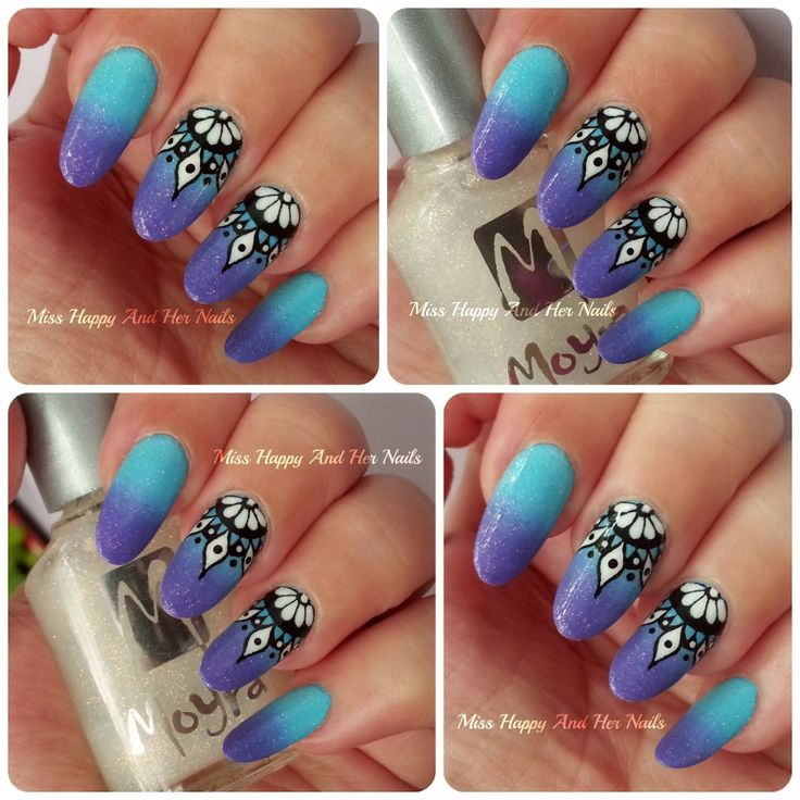 Miss Happy And Her Nails : Mandala/dreamcatcher nail art