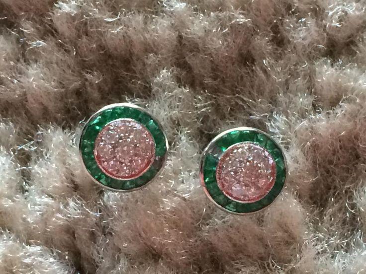 14k zlato náušnice se smaragdy a diamanty 1 ct (5098659163) - Aukro - největší obchodní portál