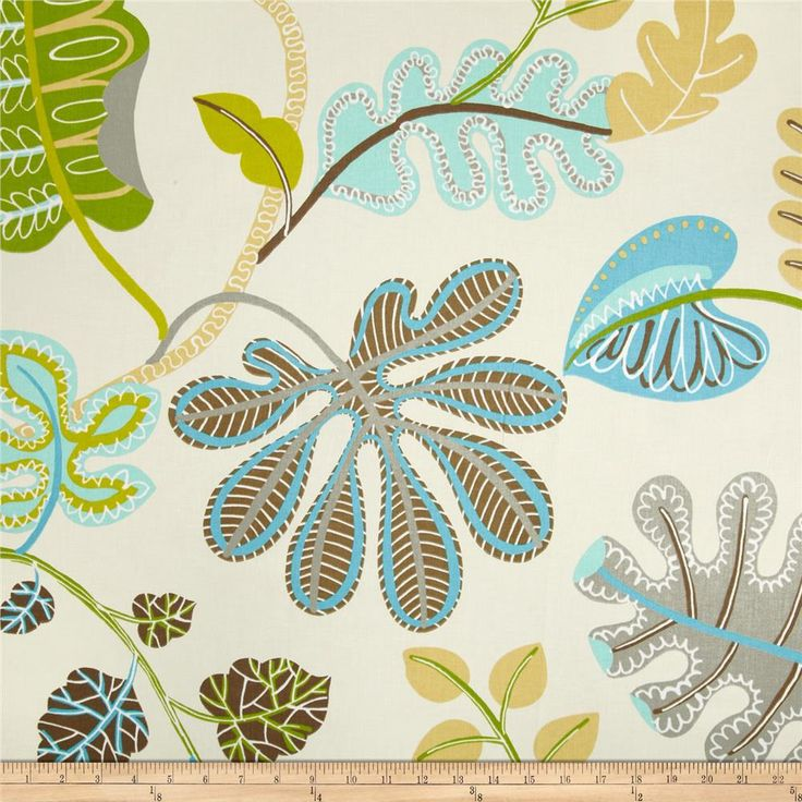 Going to use this fabric for living room drapes. Looks good with kitchen curtain and the bamboo shades. Waverly A New Leaf Sateen Meadow