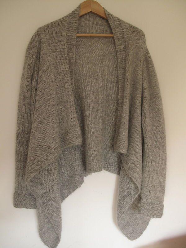 veste croisée la Droguerie n°2492 (alpaga brume+plumette écrue)