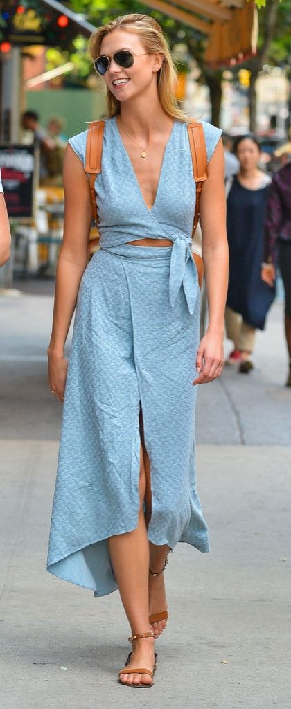 Karlie Kloss's Westlake dress is the perfect example of an easy breezy look.